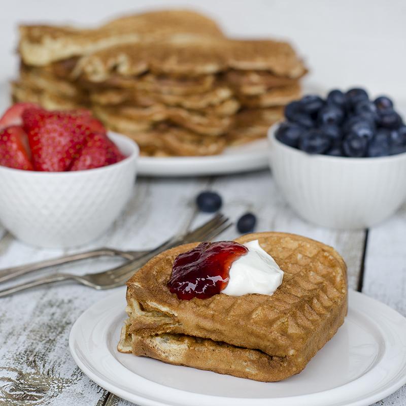 Norwegian waffles, a classic dessert!